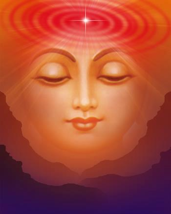 Meditative Face with Soul sparkling