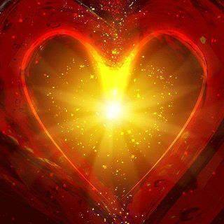 Red luminous heart