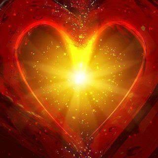 Red luminous heart