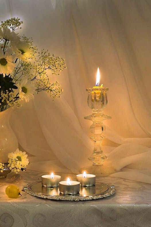 Etheral Candles and Flowes